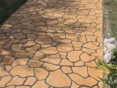 Cement outdoor floor tiles DECOTOP SPRAY