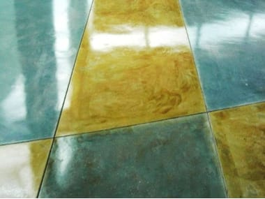 Floor tiles with marble effect ACID STAIN
