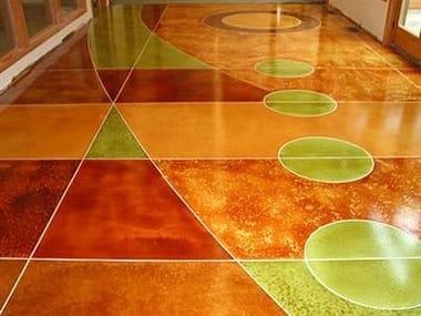 Color for concrete flooring DYE COLOR