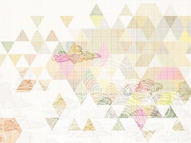 Carta da parati geometrica per bagno BYOUBU