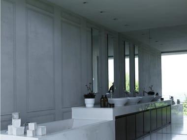 Wood effect trompe l'oeil bathroom wallpaper LE GRAND PALAIS