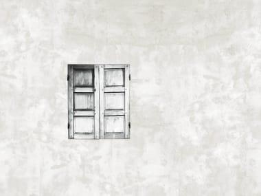 Wall effect trompe l'oeil bathroom wallpaper NEAR THE WINDOW