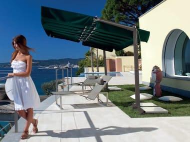 Adjustable aluminium Garden umbrella CALIFORNIA GRAPHITE