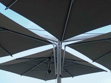 Square aluminium Garden umbrella QUADRUPLO