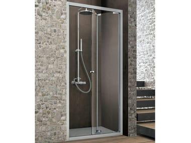 Cabina de ducha en nicho con puertas plegables ASTER-T | Cabina de ducha con puertas plegables