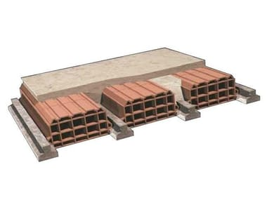 Pre-compressed joist for reinforced concrete floor slab Pre-compressed joist