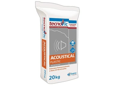 Sound absorbent plaster ACOUSTICAL PLASTIC