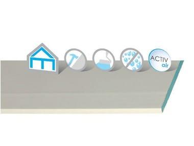 Lastra in gesso additivato con fibre di vetro Habito Hydro Activ'Air®