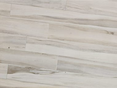 Porcelain stoneware flooring with wood effect MAXIWOOD Rovere Bianco