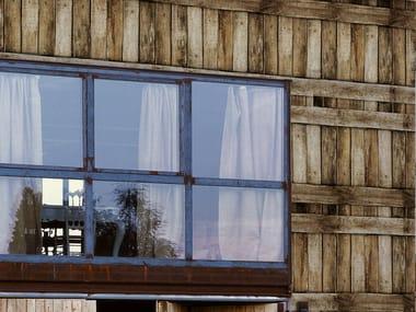 Wood effect outdoor wallpaper WOODEN