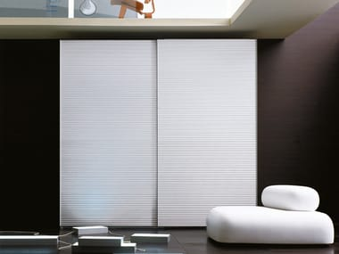 Aluminium wardrobe with sliding doors ALLUMINIO