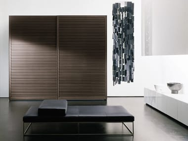 Wenge wardrobe with sliding doors AMADO