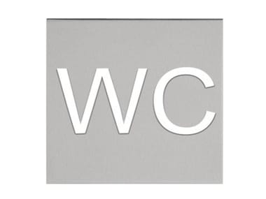 Stainless steel sign SQUARE | Sign