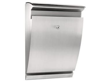 One-sided outdoor stainless steel mailbox ARCTURUS