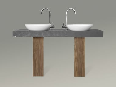Double washbasin countertop 703 | Washbasin countertop