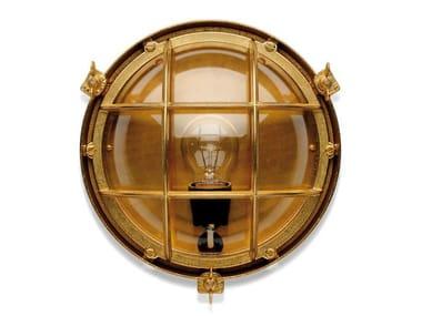 Brass Outdoor wall Lamp 100014 | Screen light IP 23 plain brass