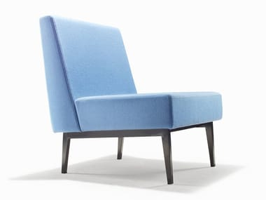 Upholstered fabric lounge chair PIXEL | Lounge chair