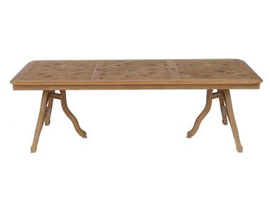 Tavolo da giardino rettangolare in teak PASSIFLORE   Tavolo rettangolare