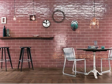 Ceramic wall tiles with brick effect MANHATTAN