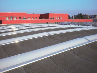 Self-supporting extruded multiwall polycarbonate dome COVERBANPIU'