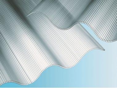 Corrugated extruded multiwall polycarbonate modular system ONDAPIU'