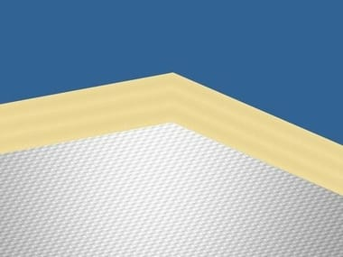 Glass wool Sound insulation and sound absorbing panel in mineral fibre Ecophon Combison™ Barrier