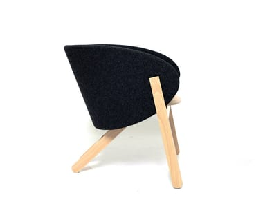 Fabric easy chair with armrests CURVA | Fabric easy chair
