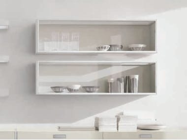 Horizontal Wall Cabinet With Glass Door FRAME | Wall Cabinet