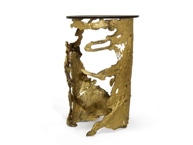 Brass side table CAY | Coffee table