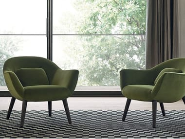 Upholstered fabric armchair MAD CHAIR | Armchair