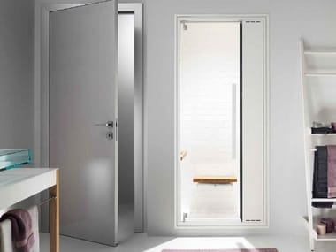 Door with integrated hammam column OMNIASTEAM TOUCH
