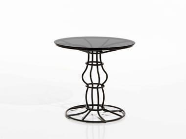 Round iron garden side table SIRIO | Round garden side table