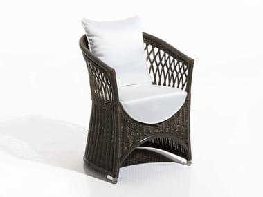 Garden upholstered fabric easy chair VEGA | Garden easy chair