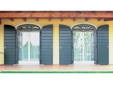 Porta-finestra a battente in legno con triplo vetro KLIMA 92