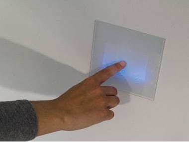 Touch glass and aluminium wiring accessories with LED lights STILE NEXT 506E MULTITOUCH