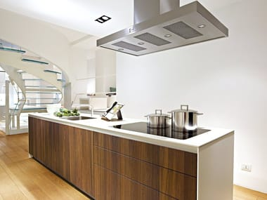 Fitted kitchen with island B3 | Wooden kitchen