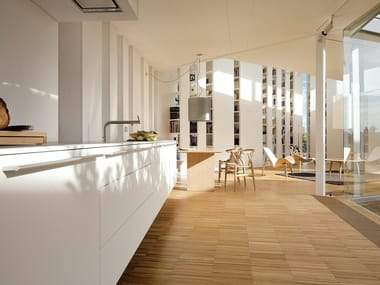 Fitted kitchen with island B3 | Laminate kitchen