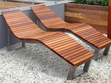 Superbe Stainless Steel And Wood Lounge Chair SKOP. Factory Furniture