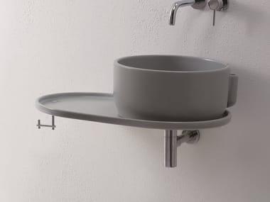 Piano lavabo singolo in ceramica UKIYO-E | Piano lavabo in ceramica
