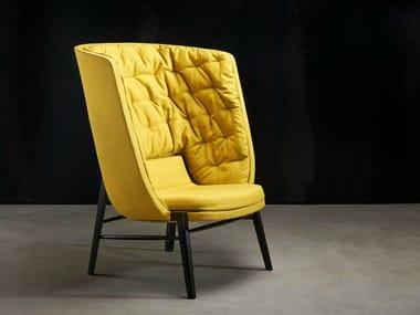 Upholstered high-back armchair CLEO | High-back armchair