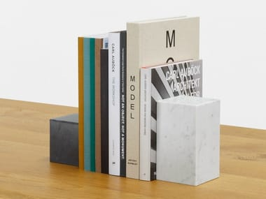 Marble bookend STOP