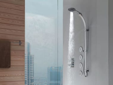 Shower wallbar with hand shower MIXA/3 FITAIR | Shower wallbar