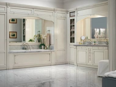 Venetian style solid wood bathroom furniture set RIALTO