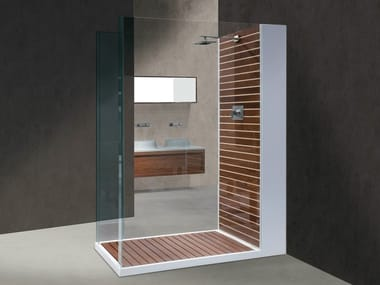 Rectangular Corian® shower cabin DOGATA