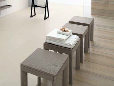 Ash bathroom stool VISONE | Bathroom stool