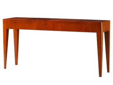 Rectangular Cherry Wood Console Table With Drawers FLAMINIA