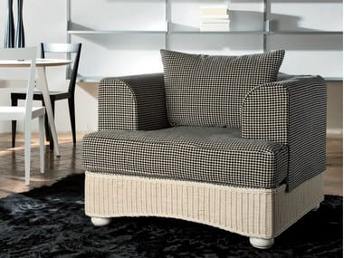 Delicieux Upholstered Woven Wicker Armchair LEDA | Armchair