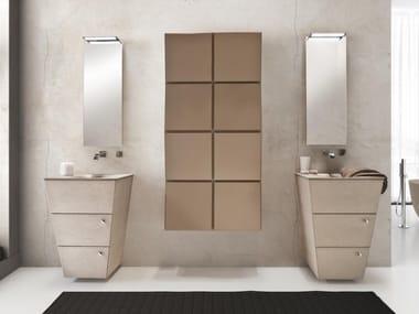 Mobile lavabo da terra in legno con cassetti LIBECCIO 30