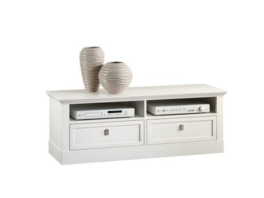 Lacquered low wooden TV cabinet SOPHIA | TV cabinet