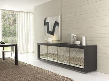 Madia in legno con ante a battente PICASSO P12 | Madia in vetro a specchio